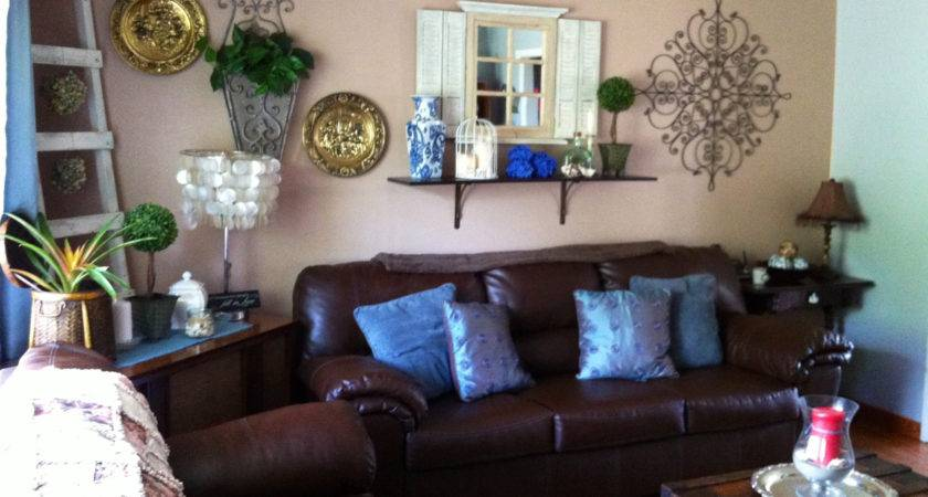 Brown Turquoise Living Room Tjihome