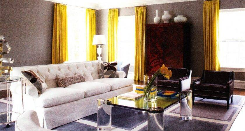 Brown Wall Room Plus Glass Windows Also Long Yellow
