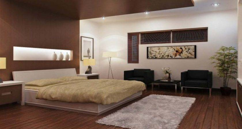 Brown White Bedroom Modern Design