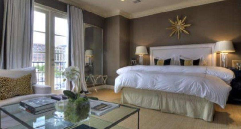 Brown Yellow Bedroom Transitional