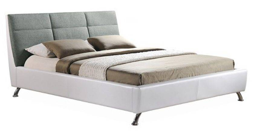 Bruno Modern Contemporary Two Tone Platform Base Bed