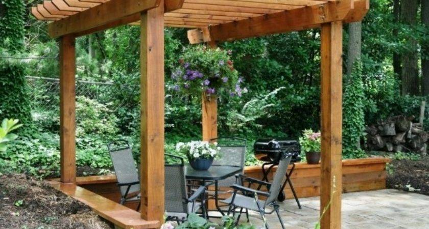 Build Wooden Pergola Gazebo Ideas