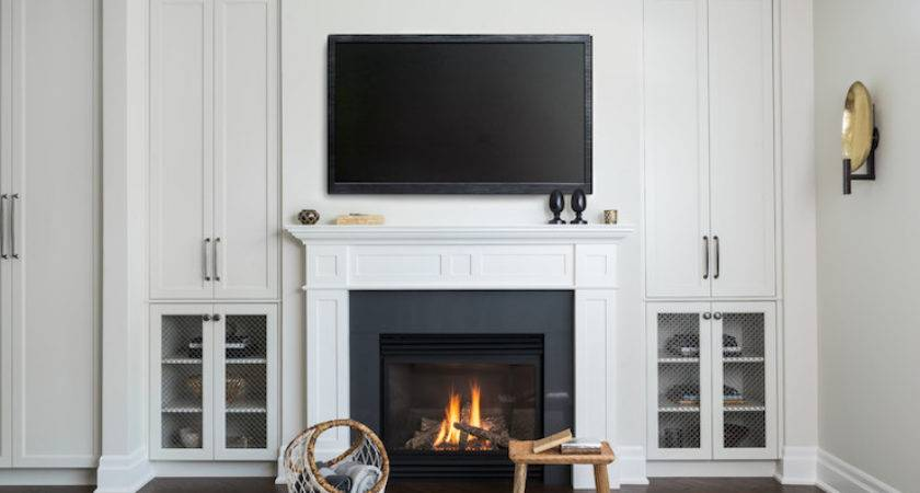 Built Cabinets Around Fireplace Matttroy