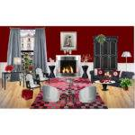 Burgundy Grey Living Room Modern House