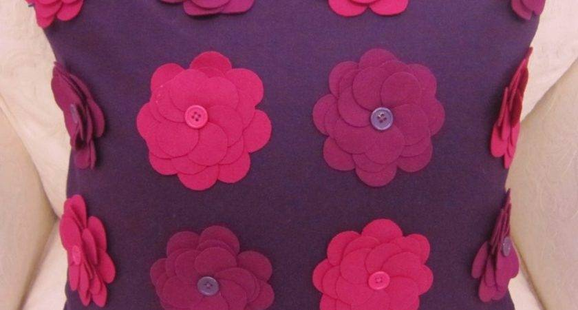 Buy Daisy Unique Pink Purple Damson Button Appliqued