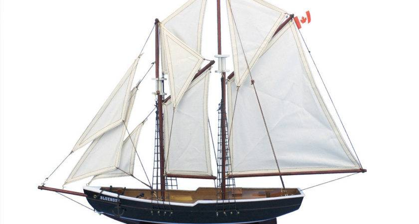 Buy Wooden Bluenose Model Sailboat Decoration Inch