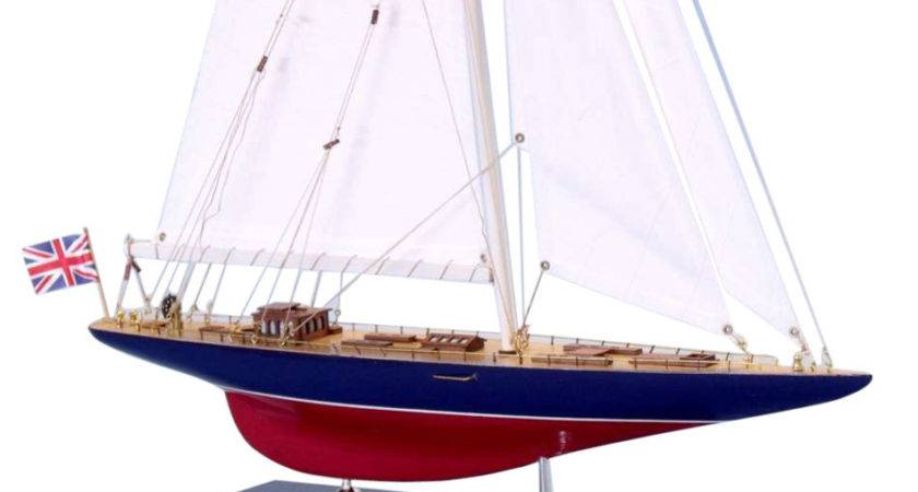 Buy Wooden Endeavour Limited Model Sailboat Decoration