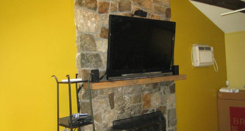 Canaan Install Natural Stone Above Fireplace