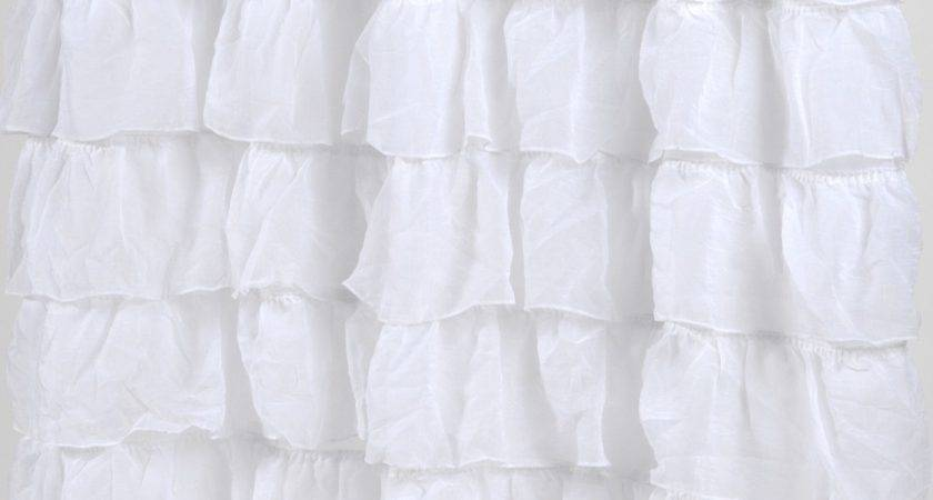 Carnation Home Fashions Carmen Crushed Voile Ruffled Tier