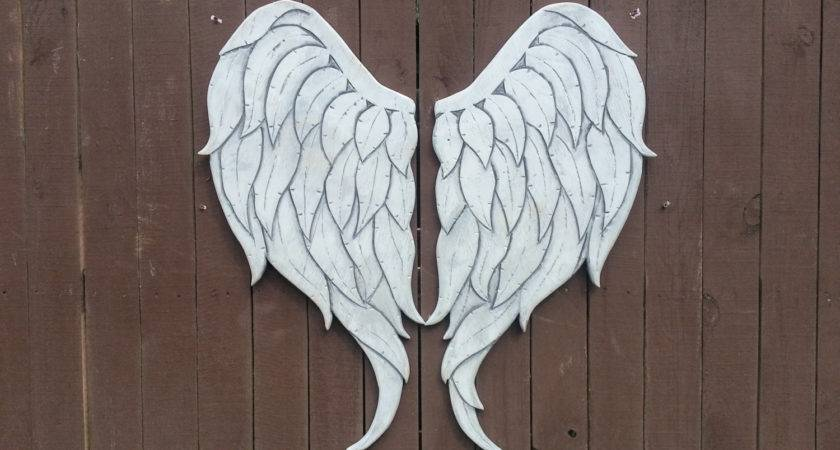Carved Wood Angel Wings Newest Style Gabriel
