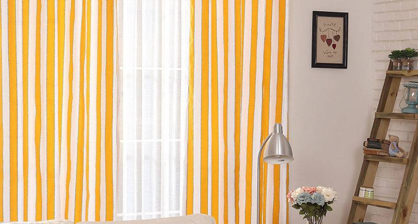 Casual Modern Style Cotton Linen White Yellow Living