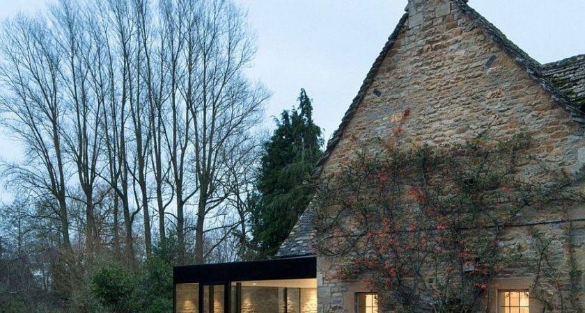Century British Cottage Gets Glassy Modern Extension