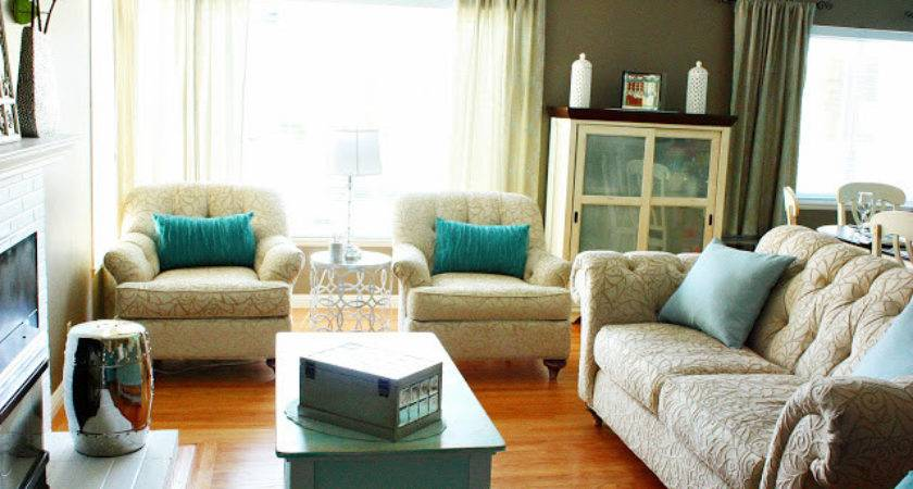 Champagne Taste Turquoise Living Dining Room