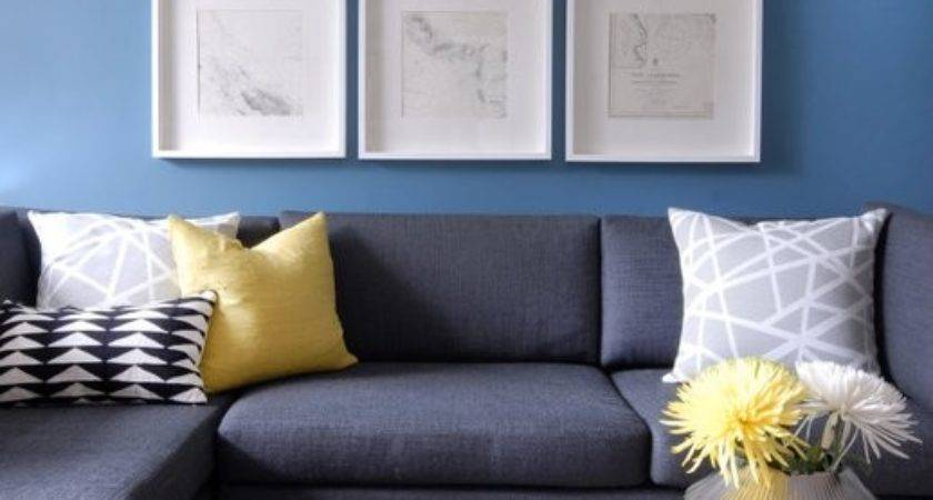 Charcoal Gray Sectional Contemporary Living Room