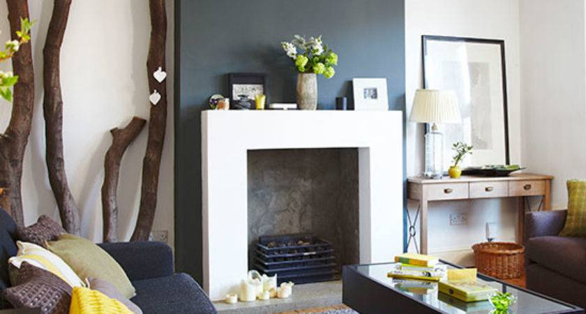 Charcoal Grey White Living Room
