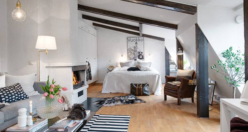 Charming Light Flooded Attic Apartment Gothenburg