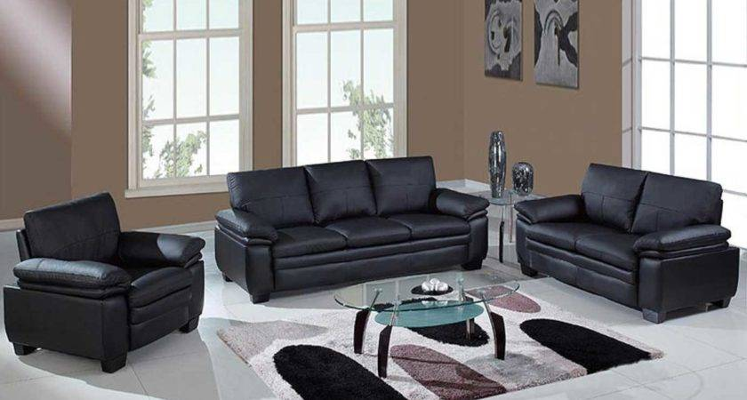 Cheap Black Living Room Furniture Sets Glass Table