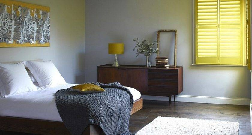 Cheerful Sophistication Elegant Gray Yellow Bedrooms