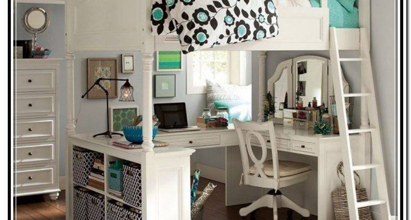 Chelsea Vanity Loft Bed White Home Design Ideas