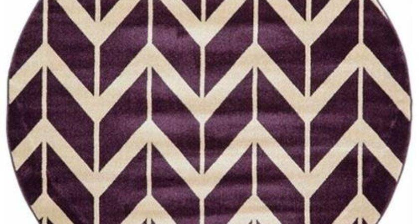 Chevron Purple Area Rug Round Rakuten