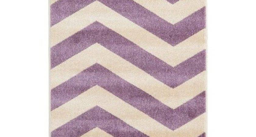 Chevron Purple Cream Area Rug Wayfair