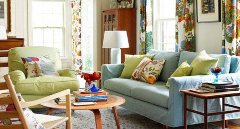 Chic Colorful Living Room Ideas Spring