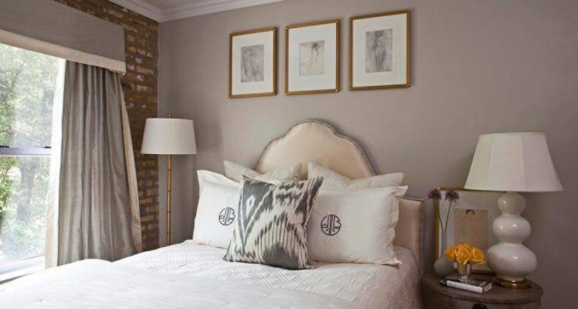 Chic Grey Bedrooms Yellow Accents Transitional
