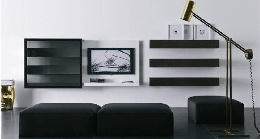 Chic Modern Wall Mount Ideas Living Room
