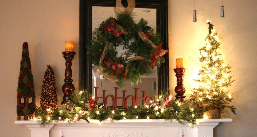 Chic Shoestring Decorating Rustic Christmas Mantel