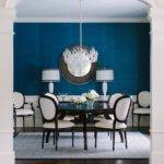 Chicago Peacock Blue Room Dining Transitional Table