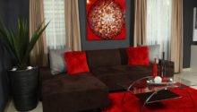 Chocolate Brown Red Living Room Beautiful Glass