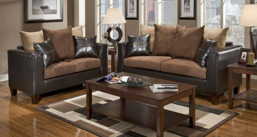 Chocolate Brown Sofa Set Enticing Parquet Flooring