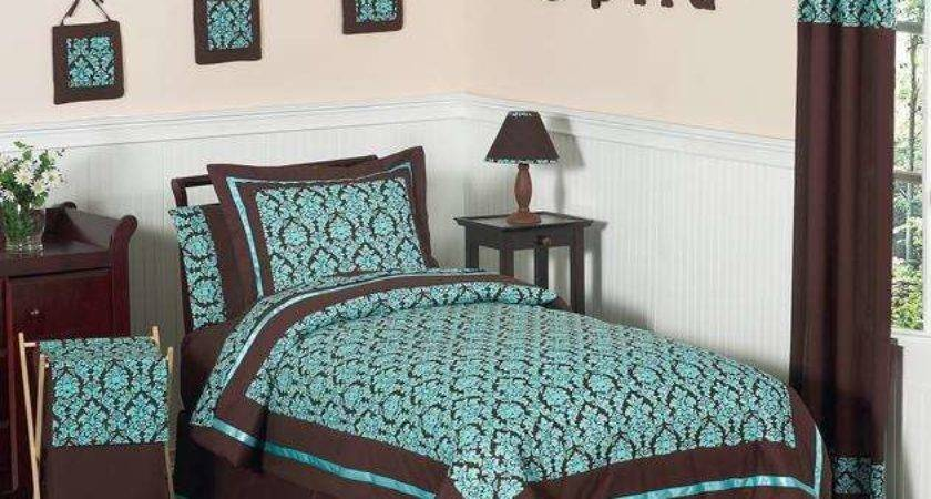 Chocolate Brown Turquoise Bedding Bedroom Ideas