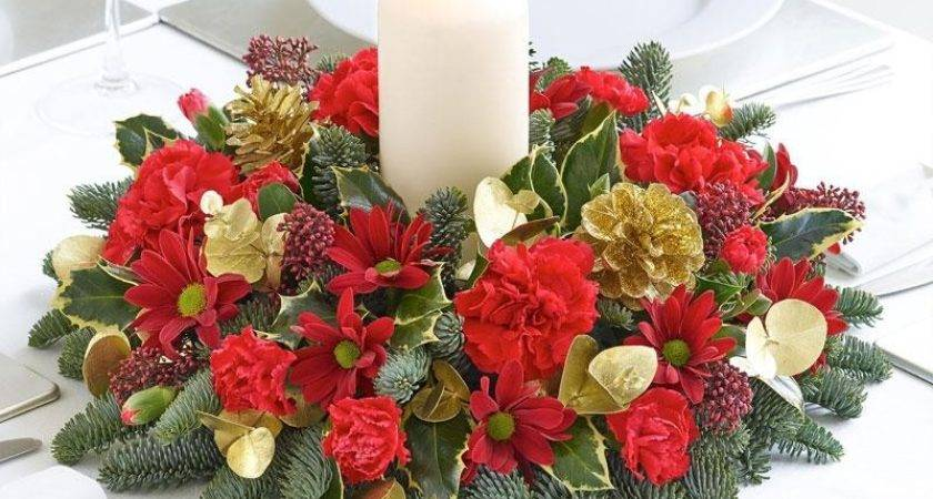 Christmas Candle Table Arrangement Laburnum House