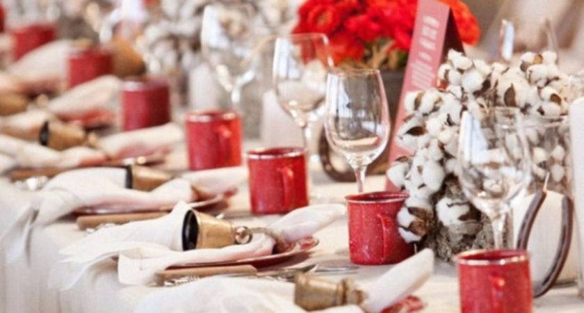 Christmas Dining Table Decor Red White