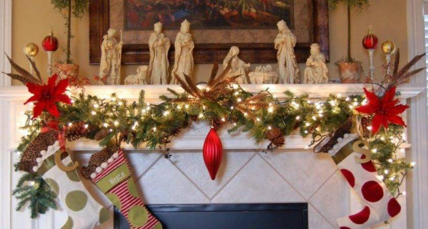 Christmas Fireplace Decoration Ideas Try Feed