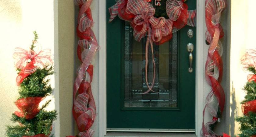 Christmas Front Door Decorations Happy Holidays