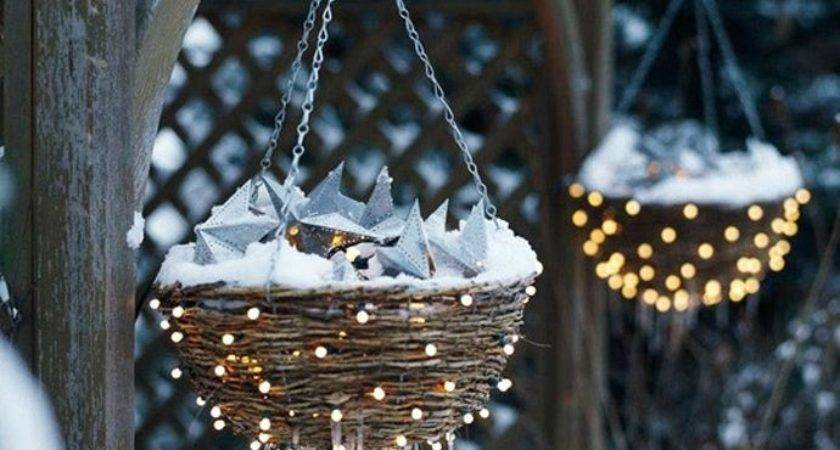 Christmas Hanging Baskets Interior Design Ideas