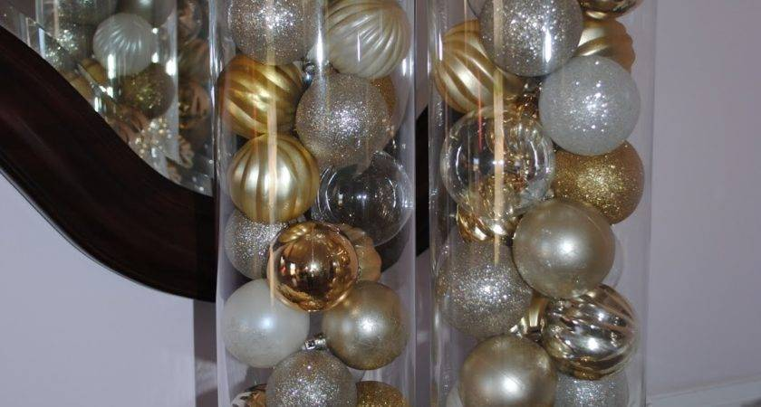 Vase With Christmas Balls Ideas Homes Decor