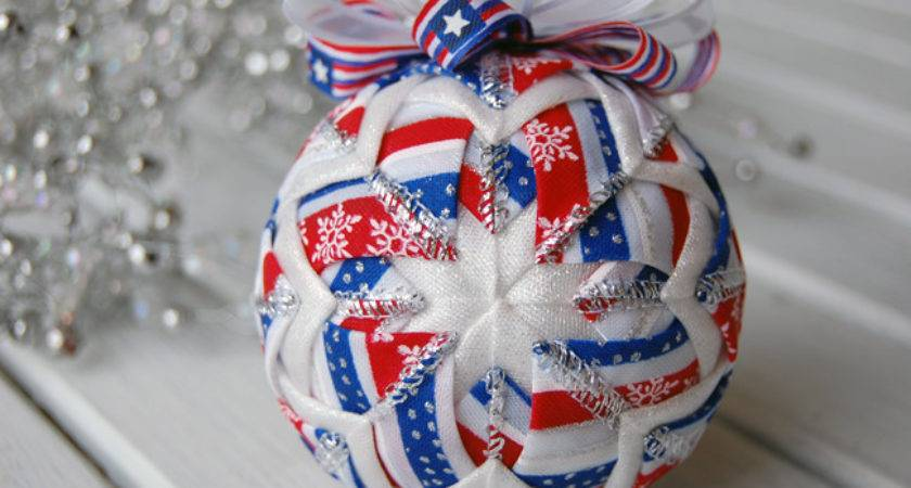 Christmas July Ornament Patriotic Red