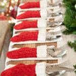 Christmas Knitted Table Setting Ideas