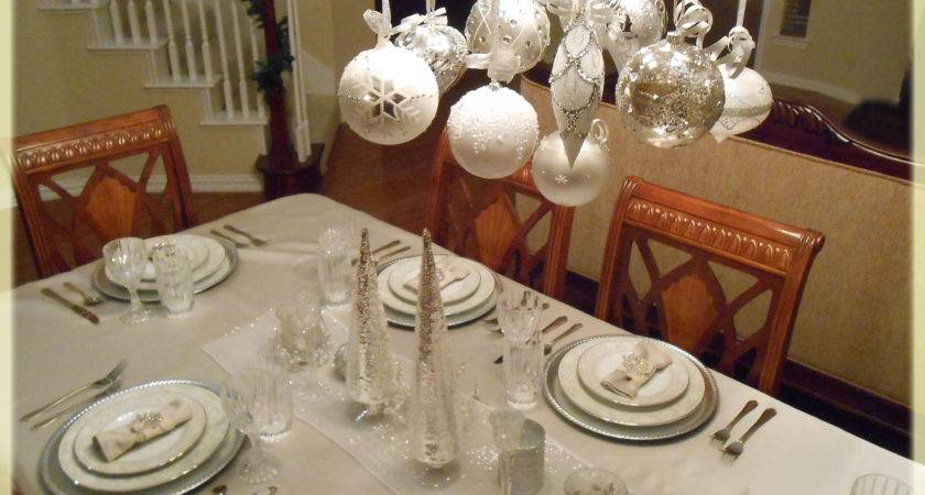 Christmas Table Decorations Just Shy Perfection