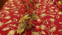 Christmas Table Decorations Red Gold Reference