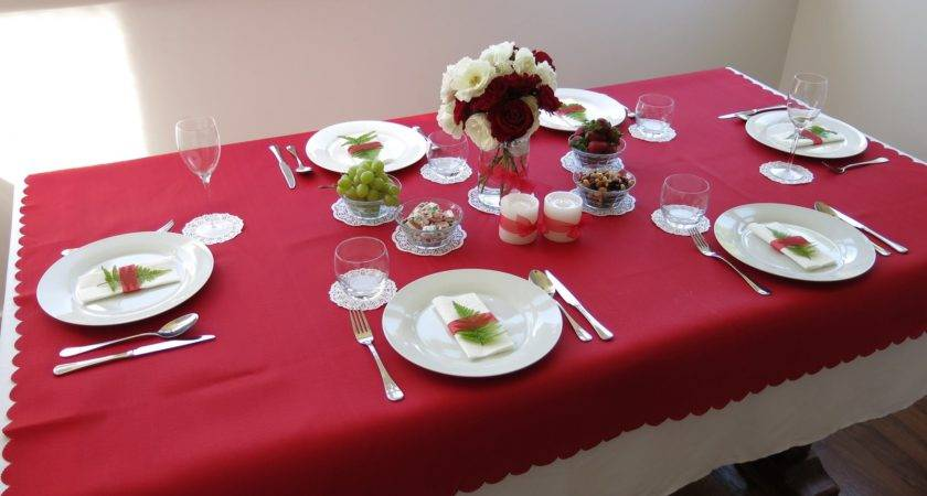 Christmas Table Decorations Red White Home Design