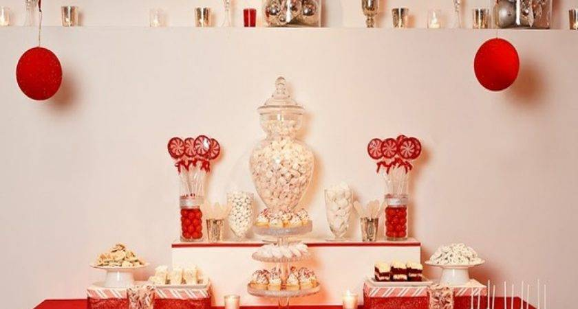 Christmas Table Decorations Red White