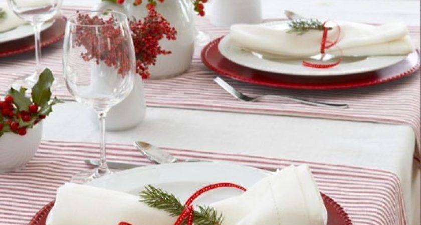 Christmas Table Setting Ideas Red Gold Decor
