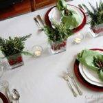 Christmas Table Setting Inspired Space Builder Wife