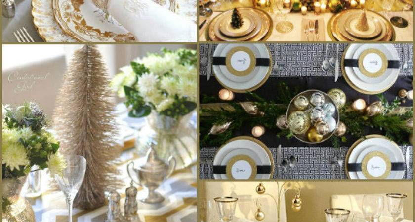 Christmas Table Settings Round Fabulous Ideas