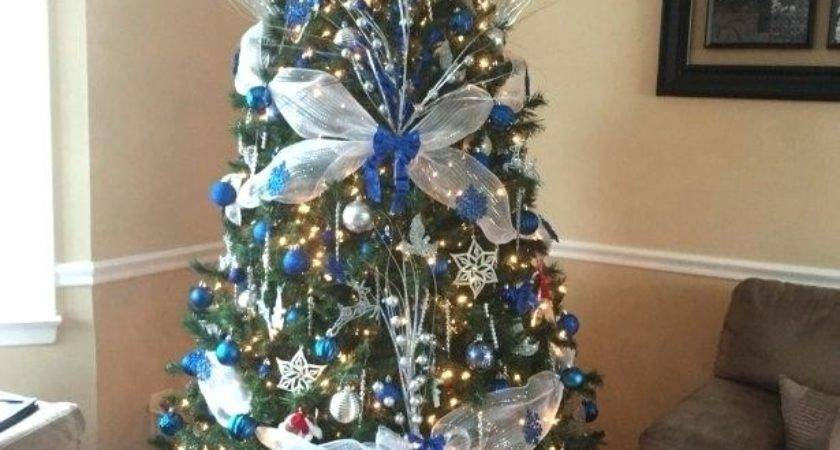 Christmas Tree Decorations Blue Silver