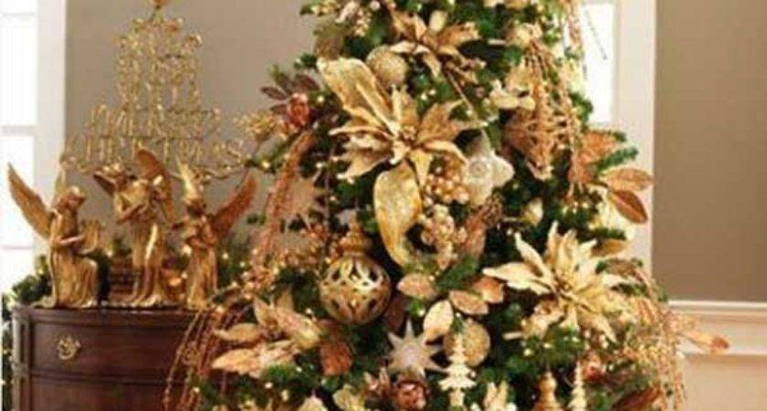 Christmas Tree Decorations Gold Brown